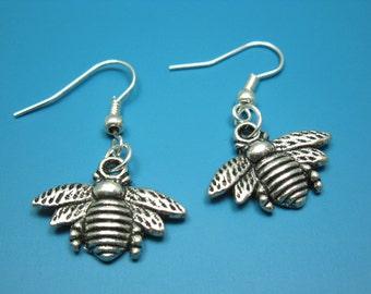 Bee Earrings - cute earrings insect earrings butterfly earrings fun earrings retro earrings quirky earrings funny earrings funky earrings