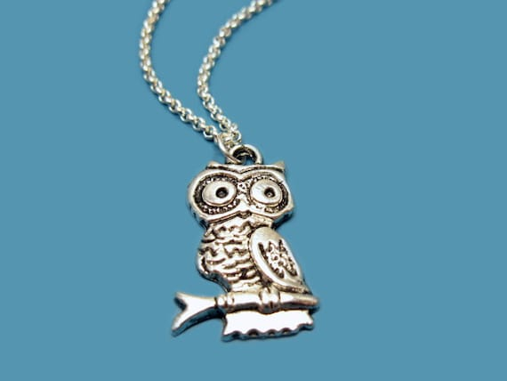 Woodland Owl Necklace - stainless steel chain bird necklace cute necklace chic jewelry rockabilly animal necklace fun fashion jewellery