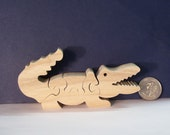 Wooden Alligator Puzzle Poplar Hardwood