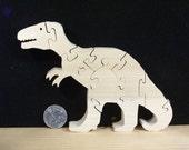 T Rex Dinosaur Puzzle Poplar Hardwood
