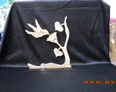 Wooden Hummingbird Puzzle Poplar Hardwood