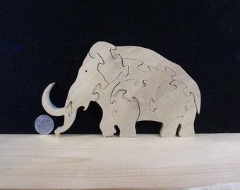 Woolly Mammoth Puzzle renewable American Hardwood