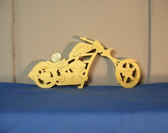 Wooden Chopper Motorcycle Puzzle