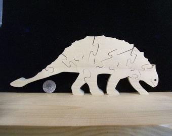 Armored Dinosaur Puzzle American Poplar Hardwood