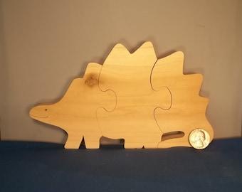 Wooden Stegosaurus Dinosaur Puzzle