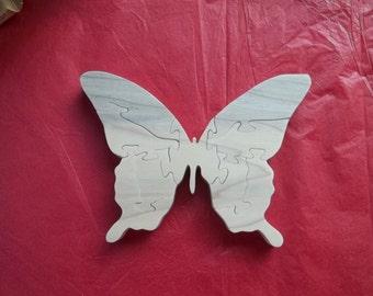 Wooden Butterfly Puzzle Poplar Hardwood