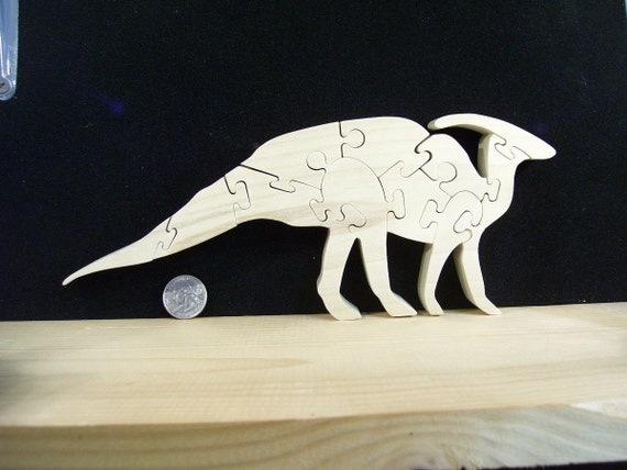 Wooden Duck-Bill Dinosaur Puzzle