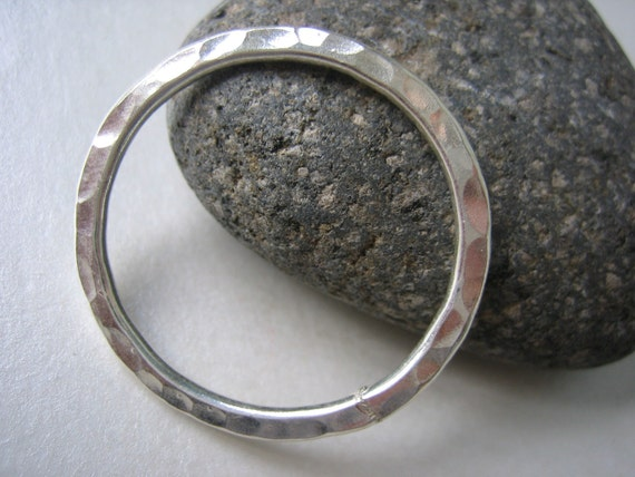 Large Hammered Sterling Silver Circle/Ring