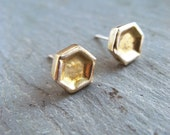 Honey Posts - Sweet Honeycomb Post Earrings