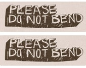 Please Do Not Bend - 18 Labels