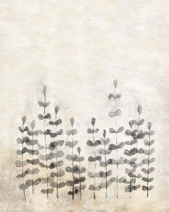 """Art Print - Ferns 8""""x10"""", 5""""x7"""", 9""""x12"""" or 11""""x14"""" - Modern Wall Decor - Archival Print"""