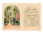 The Storybooklet Wedding Invitation (Sample Set) -Includes Hand-painted Custom Illustration in your Wedding Colors and Matching Fonts