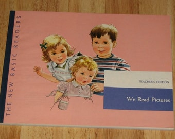 1951 We Read Pictures TEACHERS EDITION Dick and Jane and Sally pre-reading picture book - MINT - unused