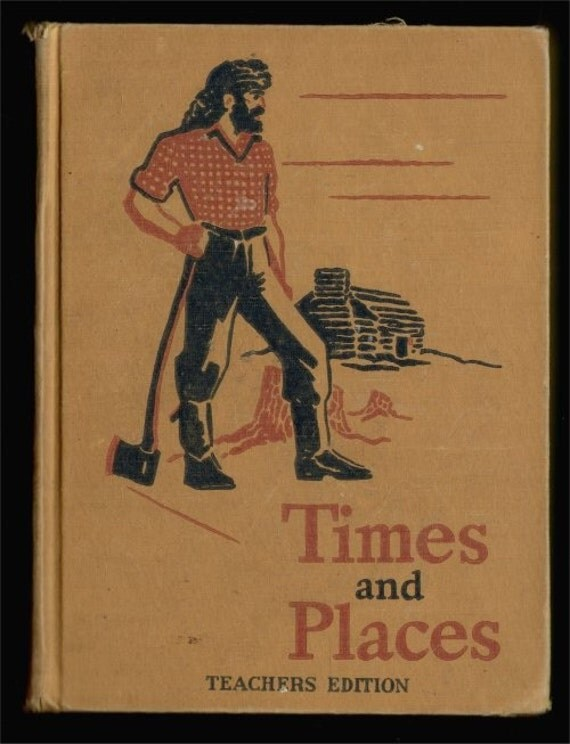 1942 TEACHERS EDITION Times and Places 4th grade basic reader Dick and Jane series