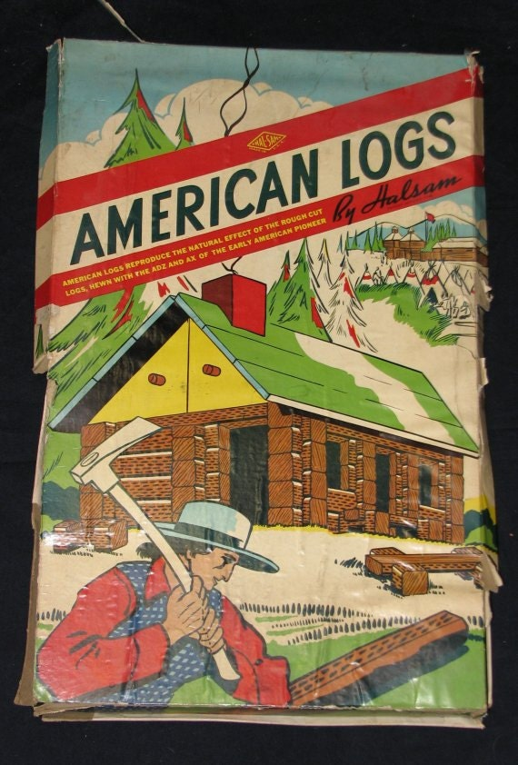 1950s American Logs By Halsam Similar To Lincoln Logs 89