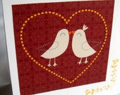 LAST ONE - Wedding Card with Love Birds by Too Much of a Good Thing