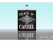 Scrabble Tile Pendant Church of CASTIEL SUPERNATURAL Custom Charm