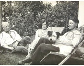Vintage Photo - Relaxing with the Dog...