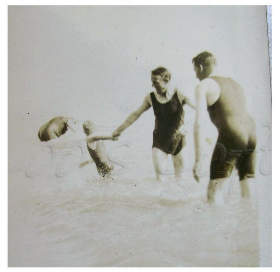 RESERVED for Sweetpeaaguy - Vintage Summer Beach Photo - Soggy Swimsuits