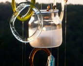 Eco friendly windchimes - COLORS - Tea light holder