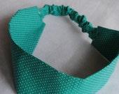 Everyday Headband in Seafoam Green and White Polka Dot