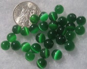 Dark Green Cat Eye Beads