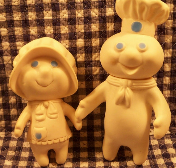 VINTAGE 1971 PILLSBURY DOUGHBOY AND 1972 POPPIN FRESH COLLECTIBLES