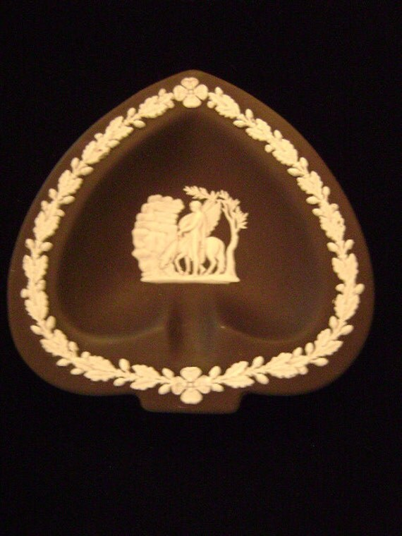 Antique Black Wedgwood Japerware Dish