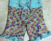 Rainbow wool capris