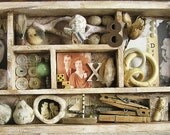 SALE Shabby Mixed Media Assemblage Memory Box