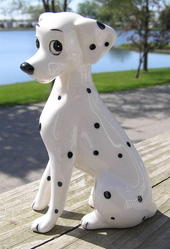 Walt Disney Ceramic Perdita 101 Dalmation Dog Made In Japan