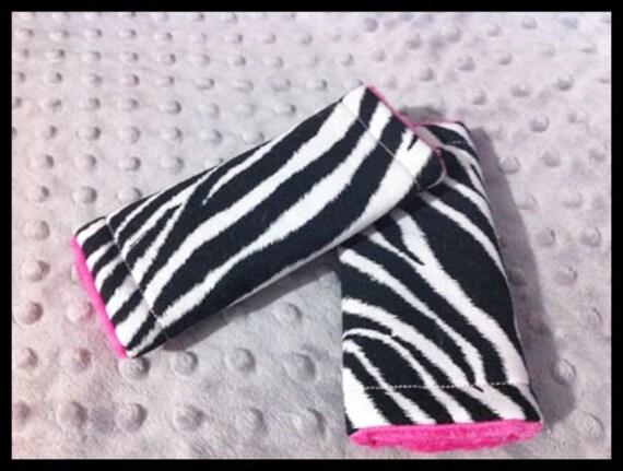 Zebra animal print Car seat strap covers