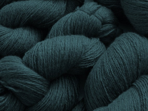 Recycled Yarn Deep Blue Lambswool Blend  -  Lace Weight  - 300 yards -- Lot 180
