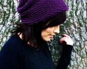 Purple Knitted Urban Slouch (Made to Order)