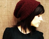Burgundy Knitted Urban Slouch (Made to Order)