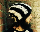 Black and White Knitted Urban Slouch (Made to Order, Allow 5 to 10 Business Days)