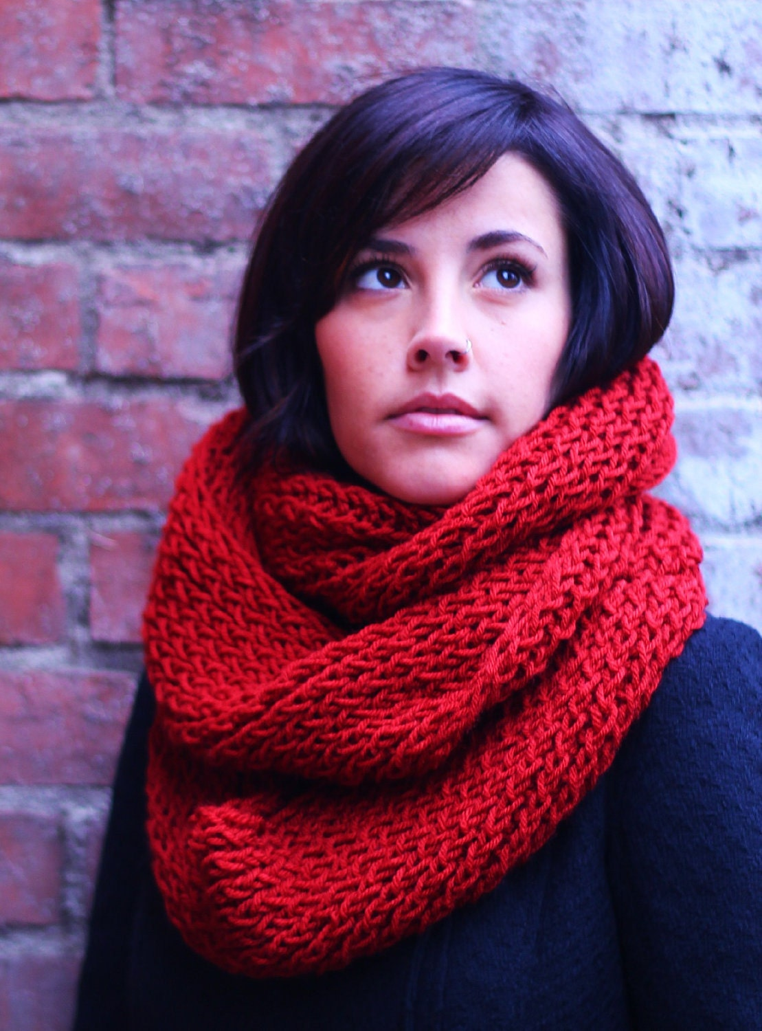 Product - Marino's Cable Knit Infinity Scarves for Women, Winter Infinity Circle Scarf Wrap. Product Image. Price $ Product Title. Sassy Scarves Women's Color Block Thick and Warm Knitted Infinity Scarf (Red/Burgundy) Product - Sassy Scarves Womens Cold Weather Infinity Neck Warmer Muffler Scarf (Burgundy) Clearance. Product.