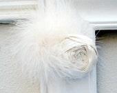 silk rosette . hair clip