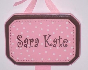 Hair Bow Holder Hand Painted Personalized
