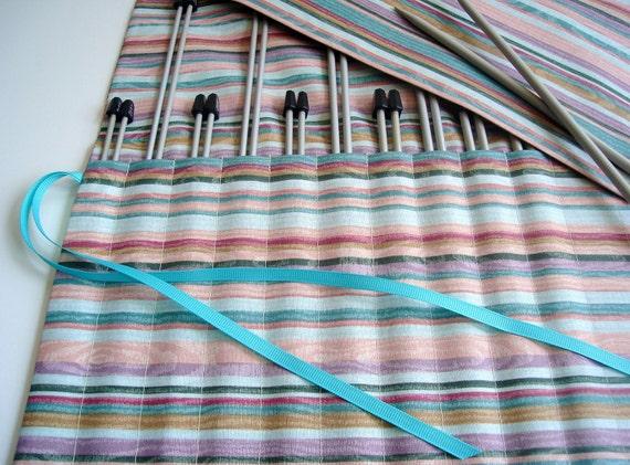 Knitting Needle Case Straight Needle Organizer Roll Up