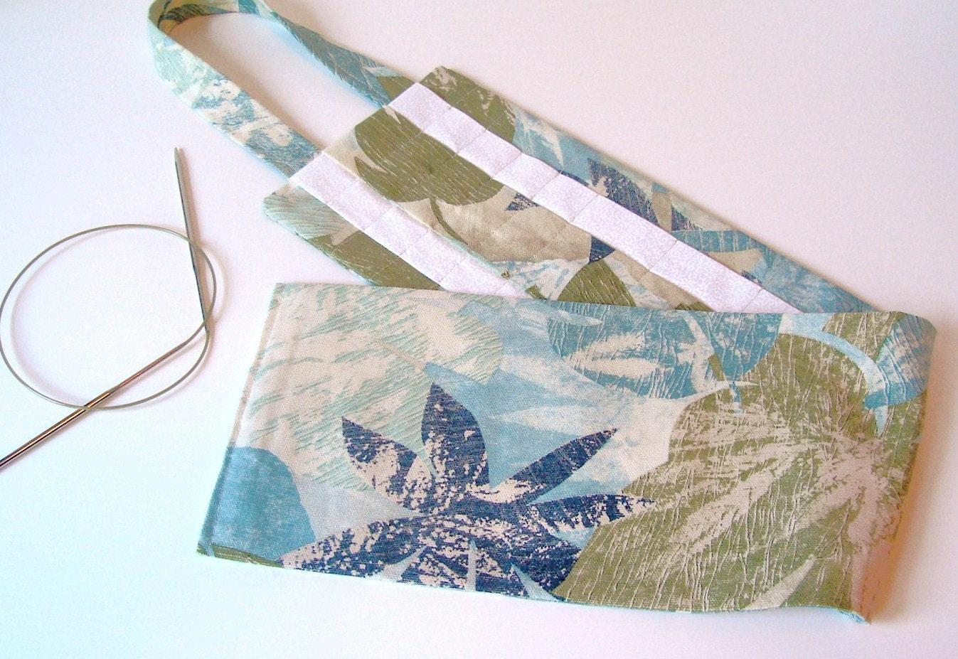 Knitting Needle Organizer : Hanging knitting needle organizer floral circular case