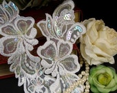 Vintage Embroidered Appliques with Sequins