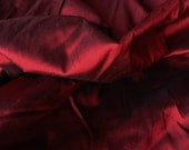 Silk Shantung Fabric Burgundy Red Iridescent Weave 100 percent silk