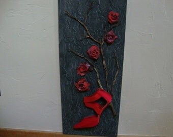 Wild Rose Stiletto Wall Art Decor