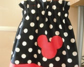 Classic Minnie Dress--Black/Red/White--12 mos 2t 3t 4t 5t 6 7 8