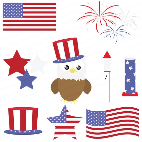 May The 4th Be With You Clip Art: Items Similar To Fourth Of July Celebration Clipart
