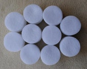 WHOLESALE Lot of 1,000 White 1.5 Inch Die Cut Felt Circles, FREE US Shipping