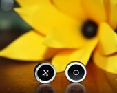 XO Valentines Day Typewriter Key Post Earrings