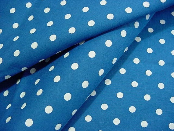 Reserved for TwilightSpells - Vintage Fabrics - White Polka Dots on Royal Blue & Red too