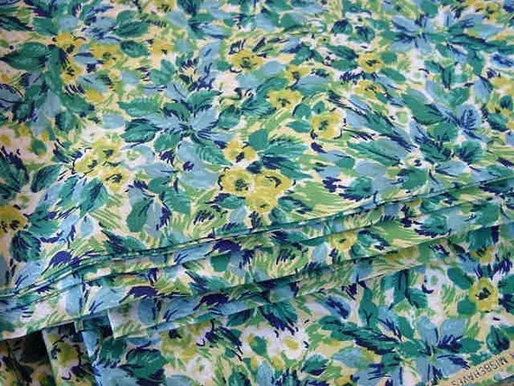 Granny's Sunday Best Apron Fabric - Vintage 40s Featherette - 36 wide
